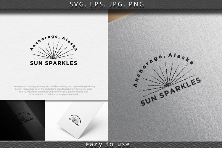 monochrome hand draw hipster style retro vector star burst w example image 1