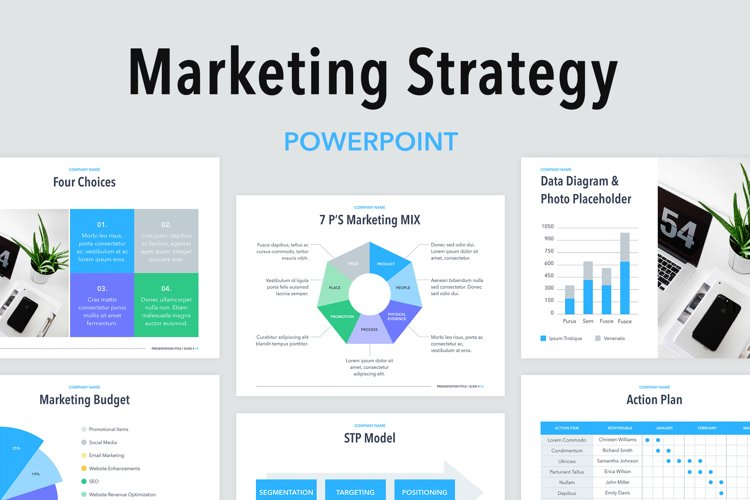 Marketing Strategy PowerPoint Template example image 1