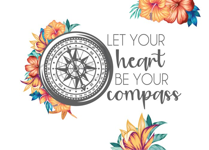 Heart Be Your Compass - Sublimation Graphic Skinny Tumbler example 1