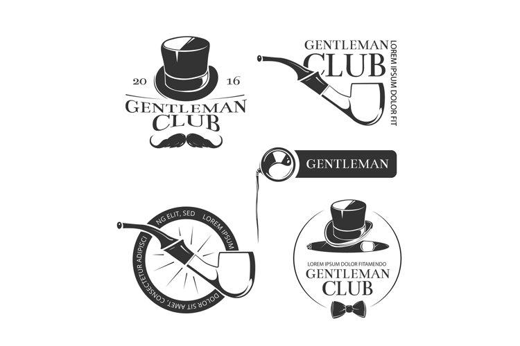Retro gentleman club vector logos, emblems, labels, badges example image 1