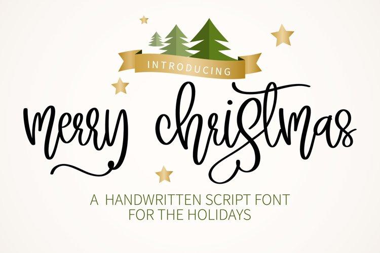 Merry Christmas - A sweet script handwritten font example image 1