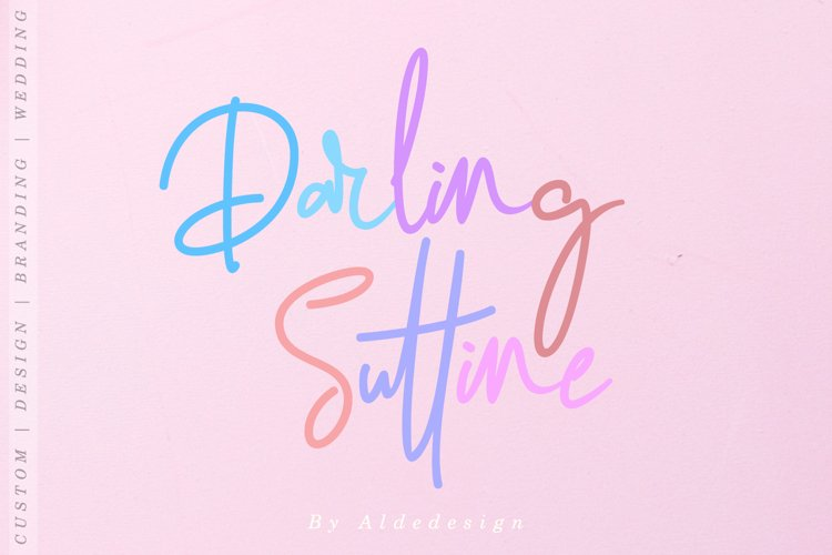 Darling Suttine | Signature Font example image 1