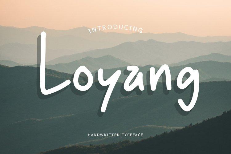Loyang Handwritten Typeface example image 1
