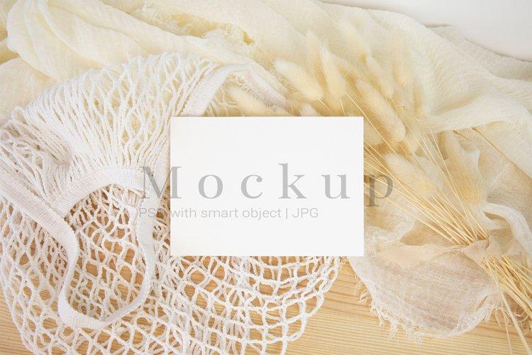 Smart Object Mockup,PSD Mockup,5x3,5 Card Mockup example image 1