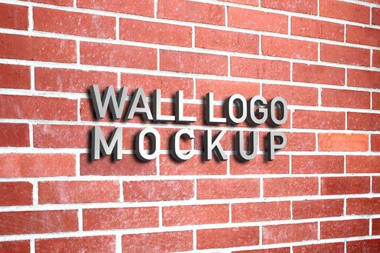 Wall Logo Mockup example image 1