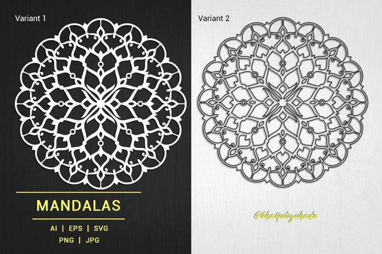 Mandalas Ornamental Monochrome_02