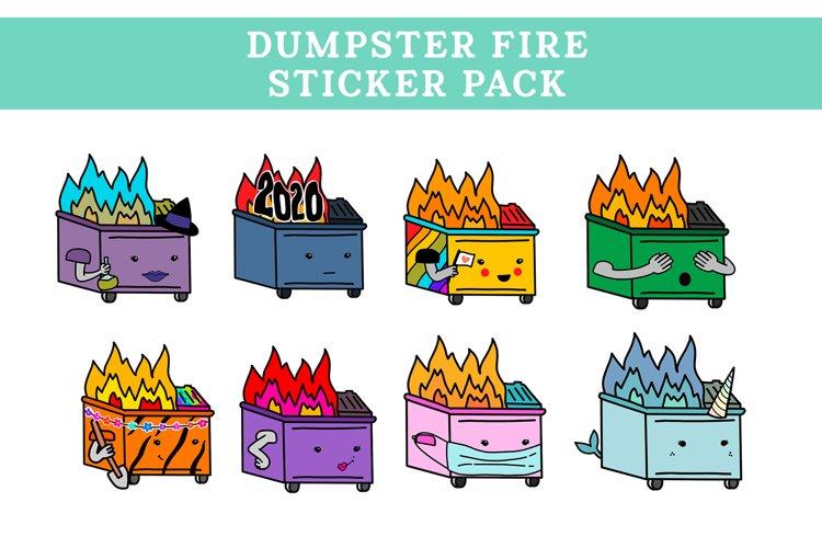 Dumpster Fire Sticker Pack