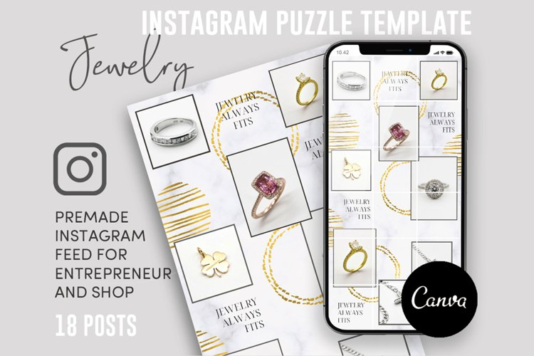 Jewelry Addict, Instagram Puzzle Feed, 18 Posts example image 1