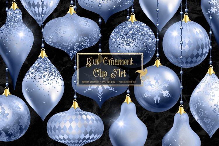Blue Christmas Ornaments Clipart