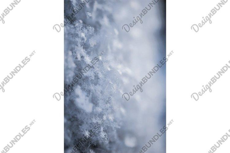 Stock Photo - Macro background of fresh snowflake texture example image 1