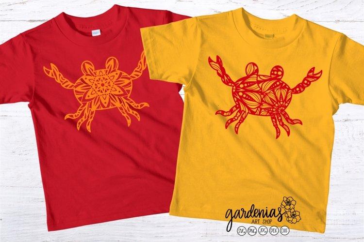 Crab Mandala SVG | Animal Mandalas | Beach Vacation Clip Art
