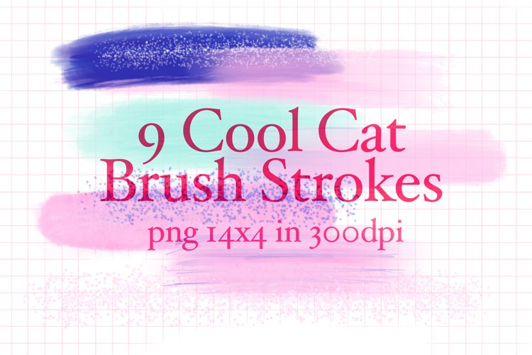9 Cool Cat Brush Strokes example image 1