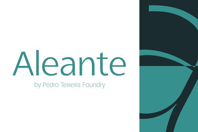 Aleante Sans Light example image 1