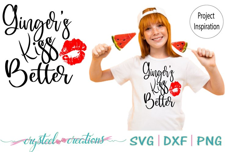 Ginger's Kiss better SVG, DXF, PNG example image 1