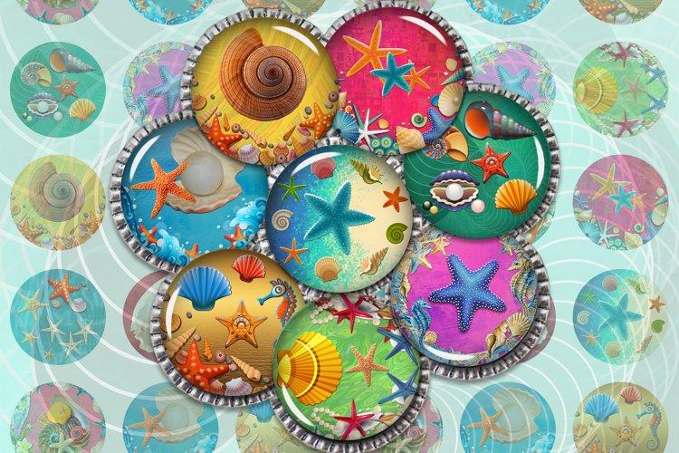 Sea Life Digital Collage Sheet,Undersea,Shells,Starfish example image 1