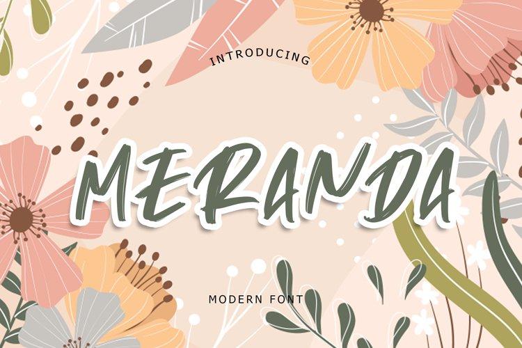 Meranda Modern Font example image 1