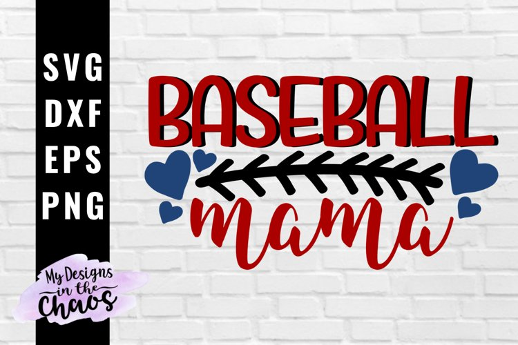 Baseball Mama SVG EPS DXF PNG | Baseball Mom SVG example image 1