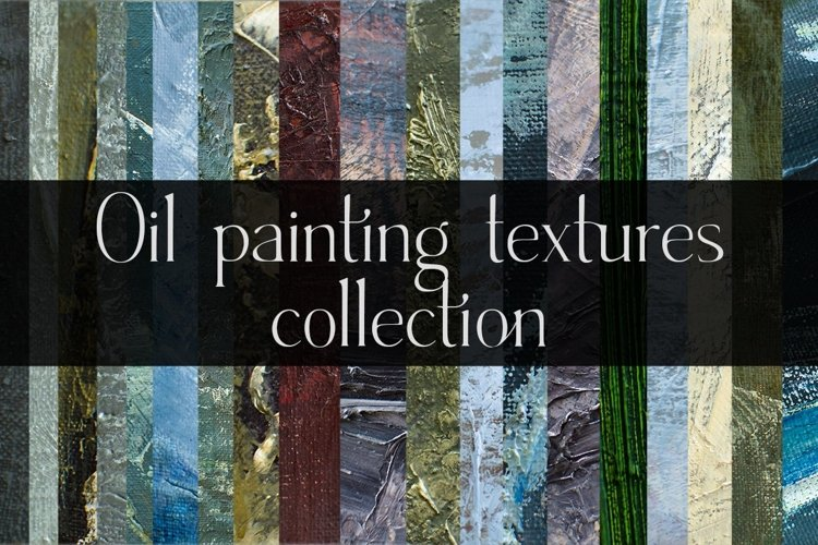Oil paintings texture collection -20 JPG files example image 1