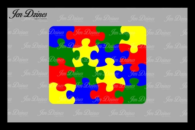 Puzzle SVG DXF EPS PNG example image 1