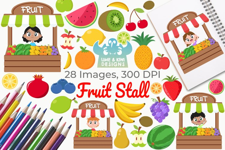 Fruit Stall Clipart, Instant Download Vector Art