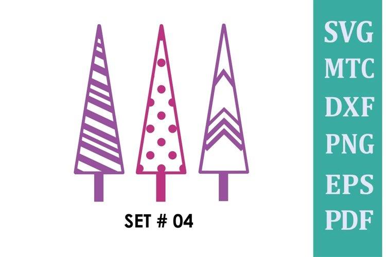 Christmas Tree Trio SET #04 SVG Cut File
