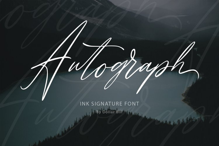 Autograph. Casual signature font. example image 1