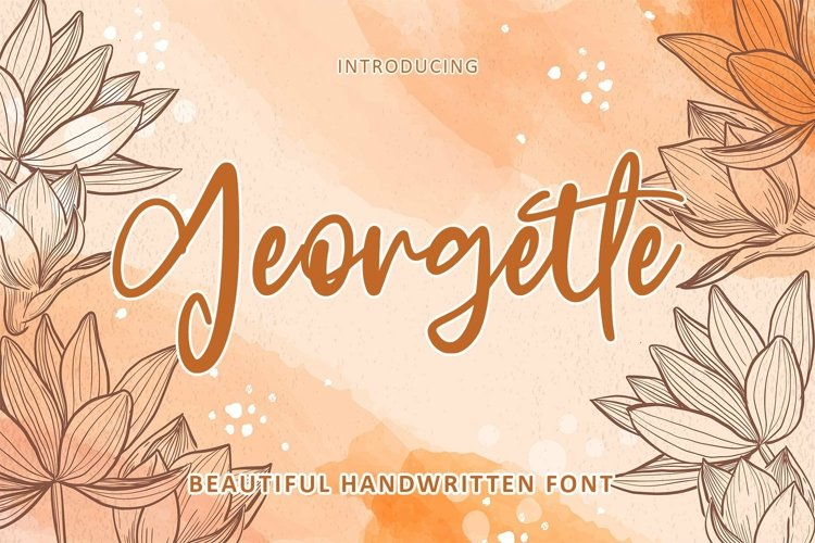 Web Font Georgette - Beautiful Font example image 1