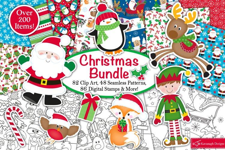 Christmas bundle, Christmas graphics and illustrations,santa example image 1