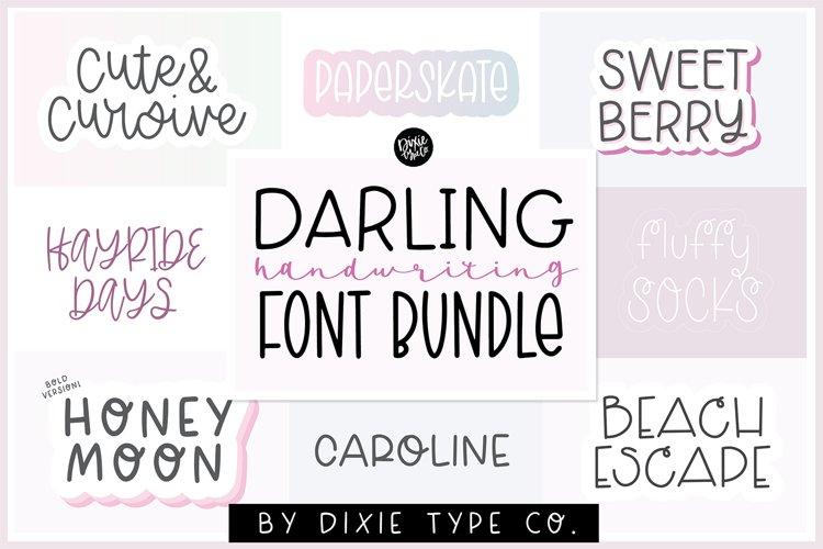 HANDWRITING FONT BUNDLE - Girly & Stylish Handwriting Fonts example image 1
