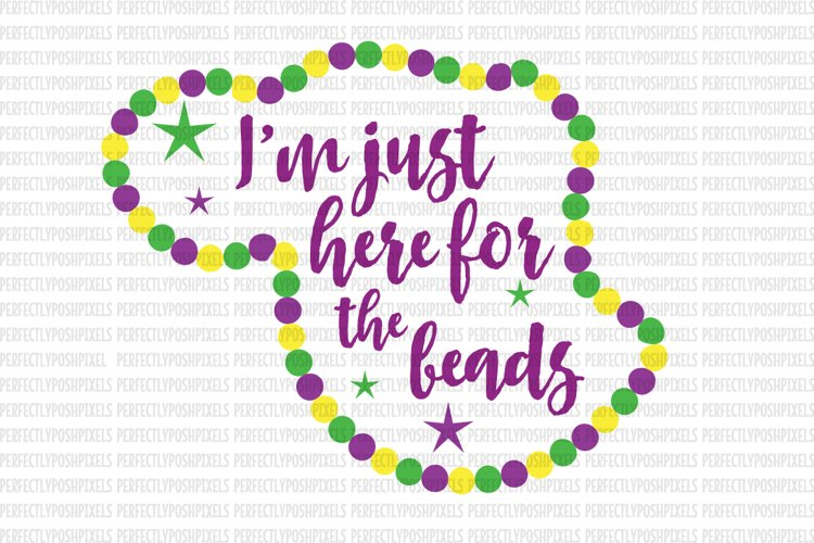 Mardi Gras SVG File DXF eps png jpg Beads and Bling Printable Clipart Silhouette Studio Cameo Circuit Design Space Cut File Iron On Template