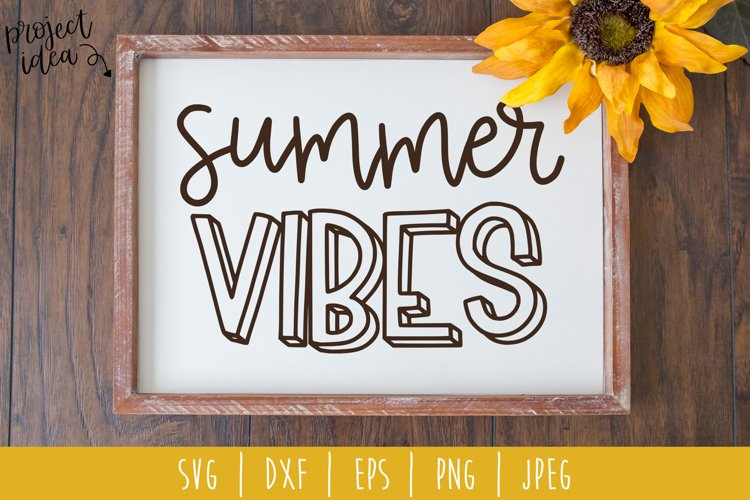 Summer Vibes SVG, DXF, EPS, PNG, JPEG example