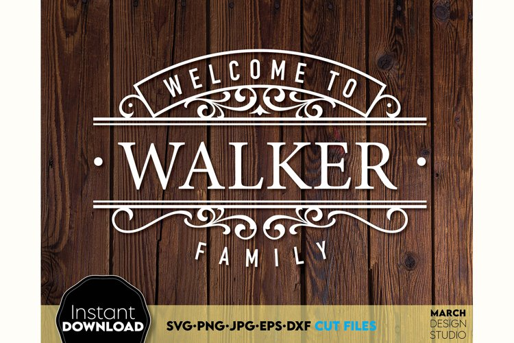 Welcome sign SVG Family sign SVG Family SVG surname svg example 2