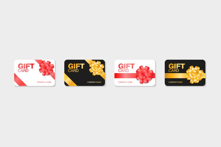 Gift card discount vector voucher mockup illustration