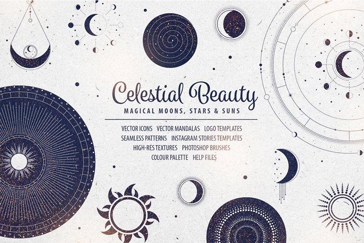 Celestial Beauty Graphic Design Elements