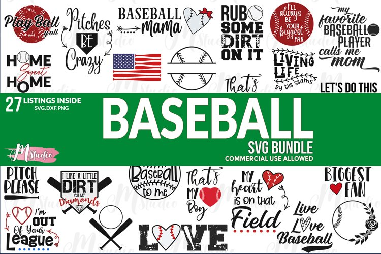 Baseball svg bundle example image 1