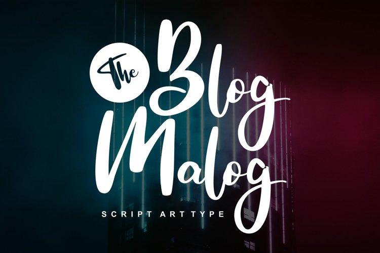 The Blog Malog | Script Arttype Font example image 1