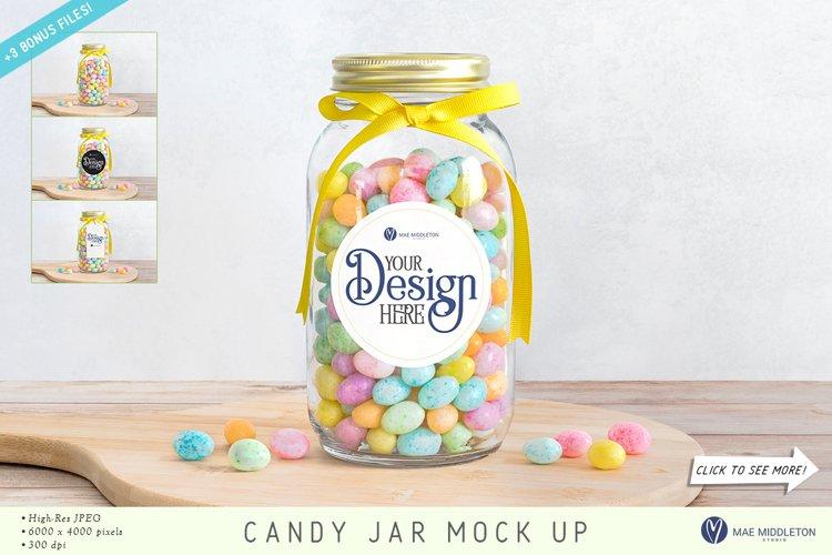 Candy Jar, Sticker Label, Gift Tag Mockups | 4 JPG files