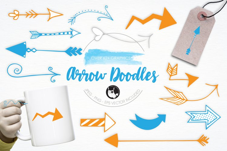 Arrow Doodles graphics and illustrations example image 1