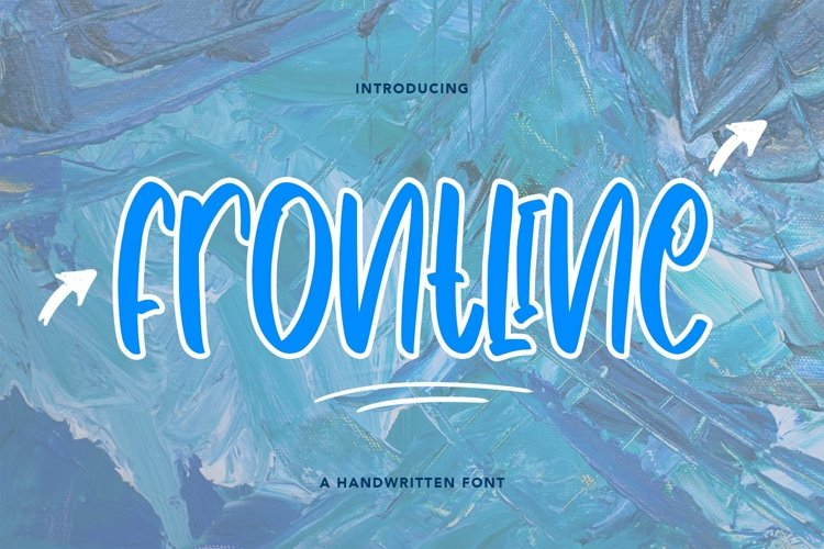 Web Font Frontline - Cute Handwritten Font example image 1