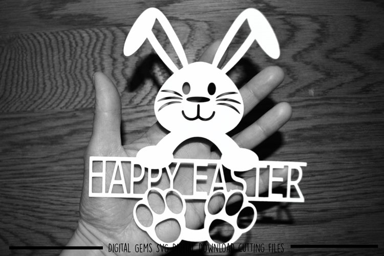 Happy Easter paper cut SVG / DXF / EPS files example image 1