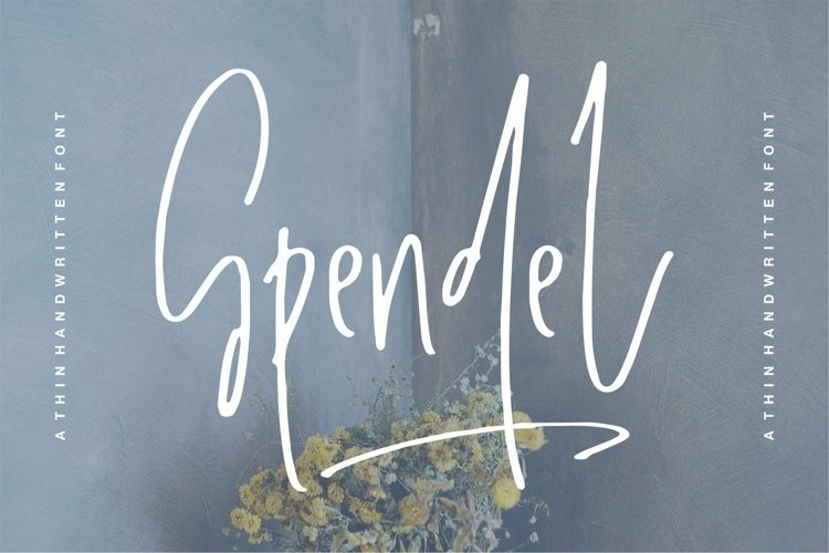 Web Font Spendel - A Handwritten Font example image 1