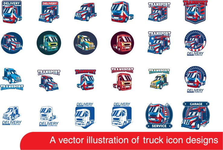 Truck vector logo example image 1