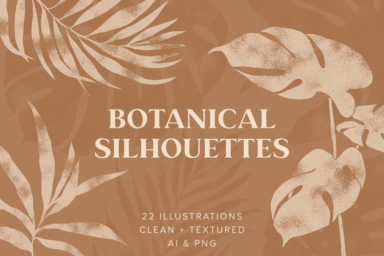 Hand-Drawn Botanical Silhouette Illustrations