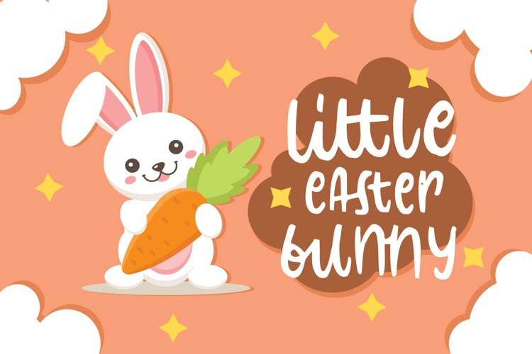little easter bunny font example image 1