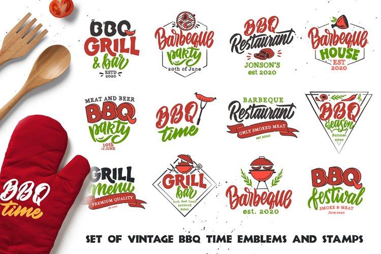 BBQ bundle. Food quotes. Design sublimation example image 1