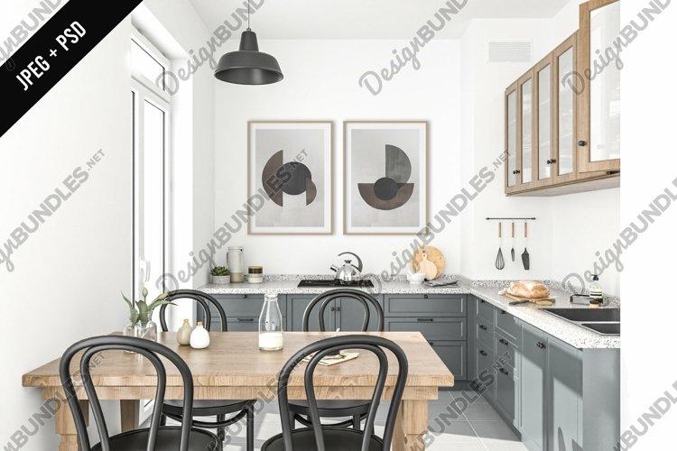 Kitchen mockup - frame & canvas mockup creator