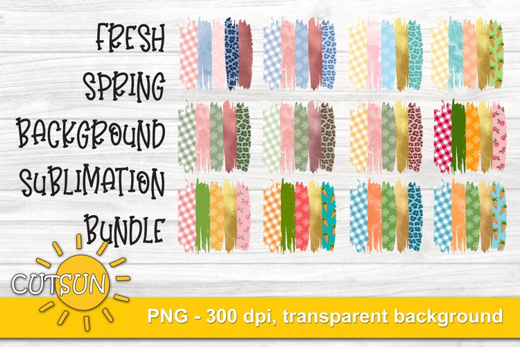 Sublimation Bundle Background | Spring Brushstrokes sub