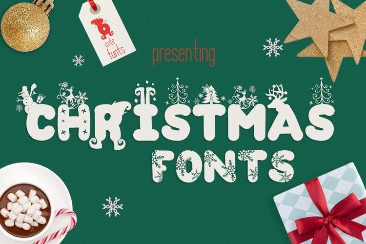 Web Font The Christmas Fonts Bundle with 6 Fonts   Bonus