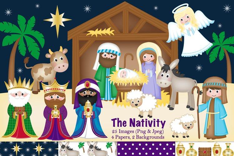 Nativity clipart, Christmas Nativity, Nativity Scene
