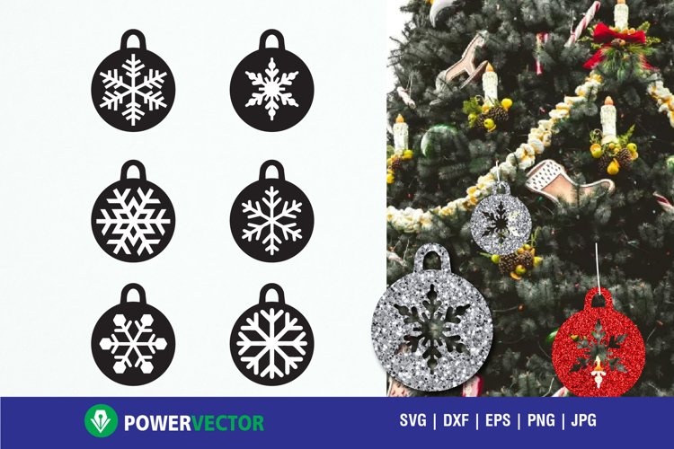Christmas Tree Decor Baubles Cutting Files Svg Dxf Eps 137138 Svgs Design Bundles